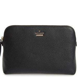 Kate Spade Jackson St leather cosmo bag